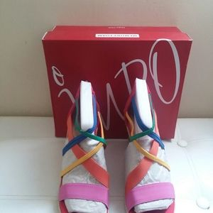 IMPO WEDGE SANDALS, SIZE 8-1/2M